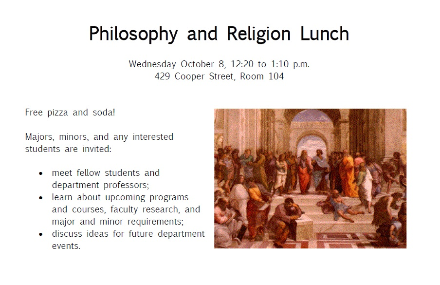 Philosophy and Religion lunch